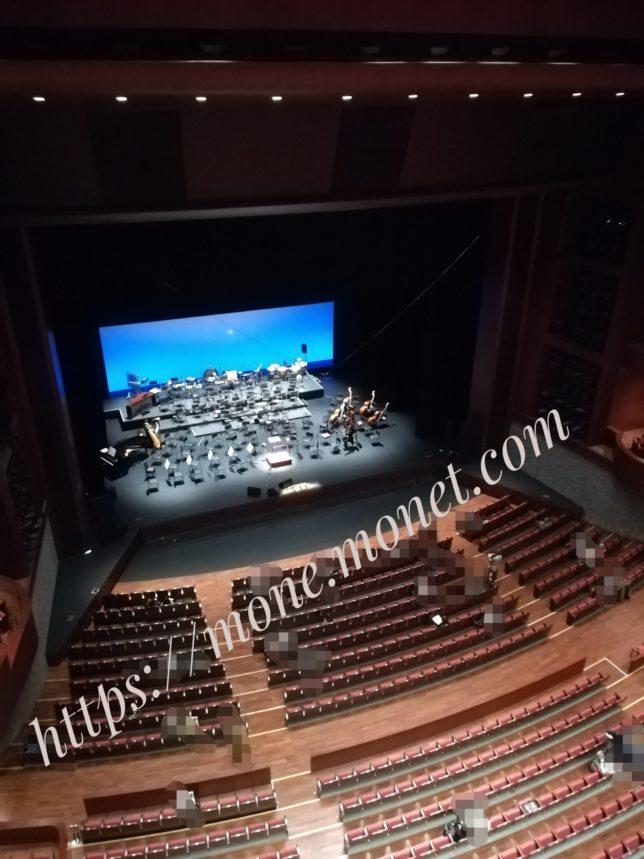 最上階からのステージの見え方の画像