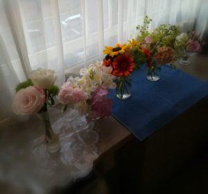短くなった花を美しく飾る見本