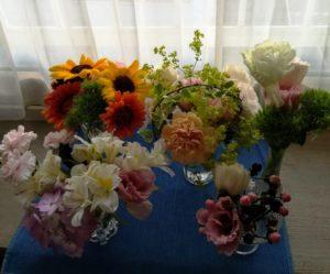 花瓶の数を増やして装飾