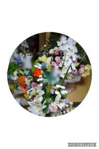 実際に飾られている仏花
